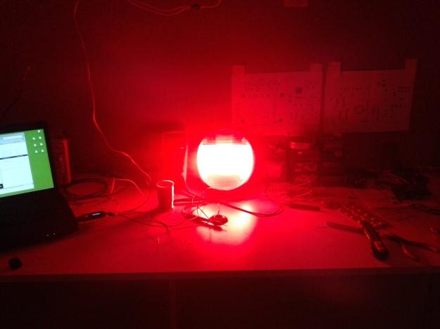 LED'li stop lambası yanarken