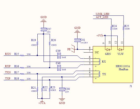 RJ45 Ethernet Jack