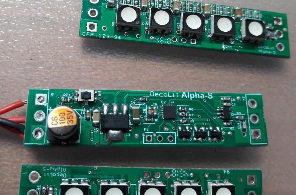 decolit alpha-s rgb led lamba modüllerinin çıplak kart halleri